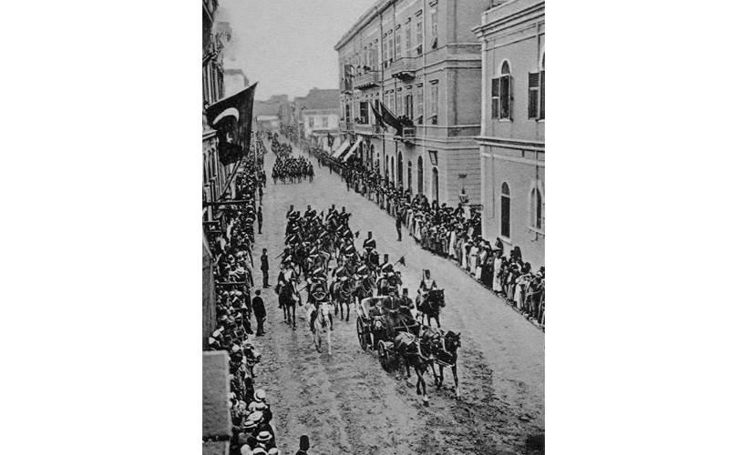 موكب الخديوي عباس حلمي الثاني في الاسكندرية سنة 1906