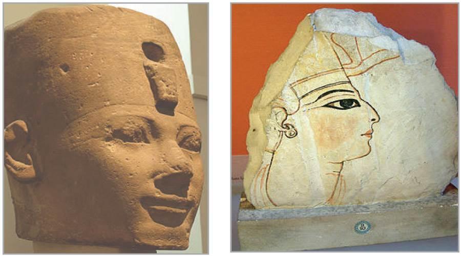 وجه رمسيس السادس -  تمثال تحتمس الأول
