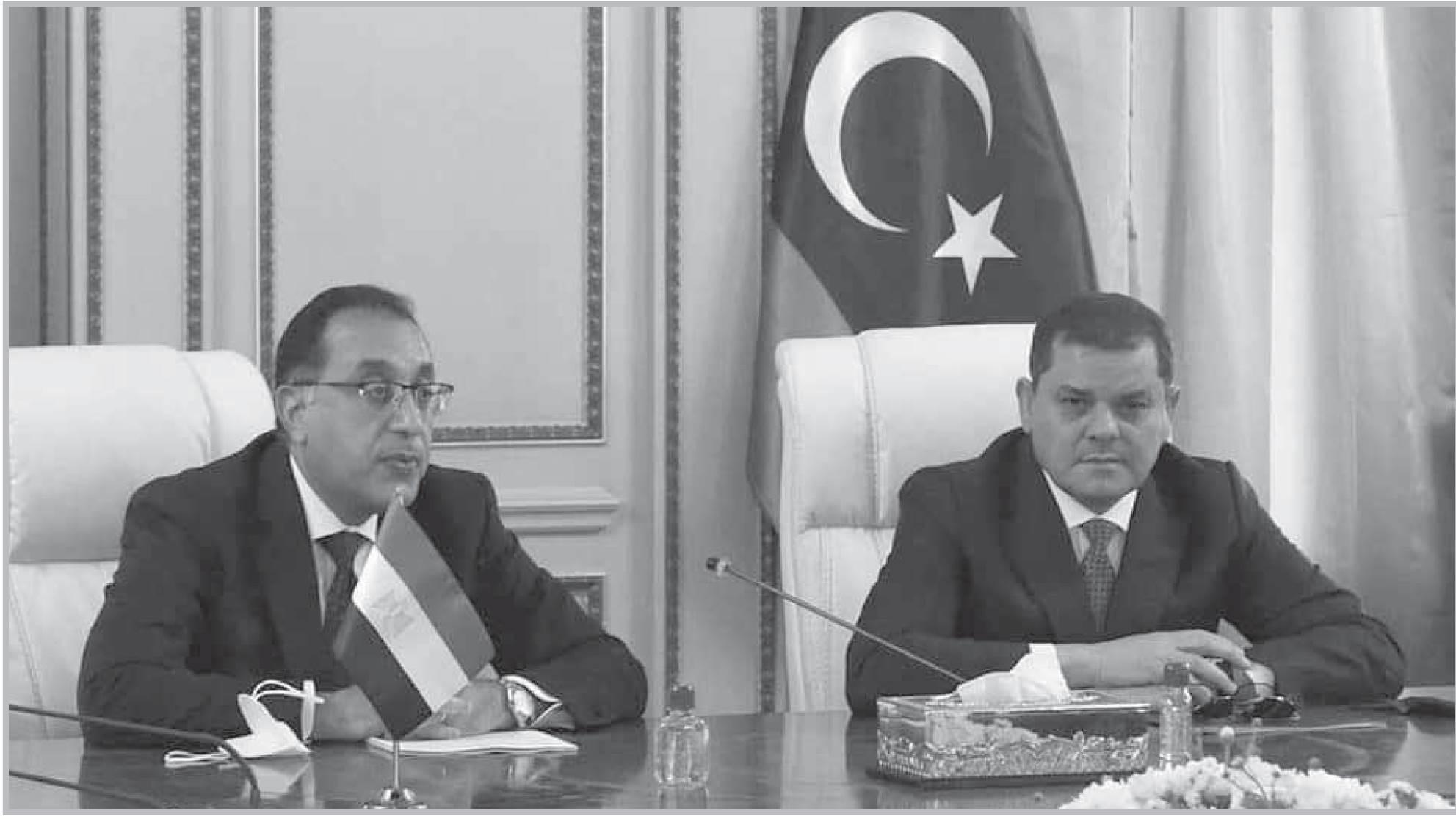 مدبولى خلال زيارته لليبيا