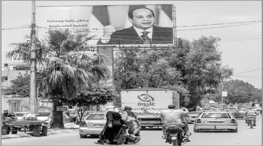 صور الرئيس عبدالفتاح السيسى فى غزة