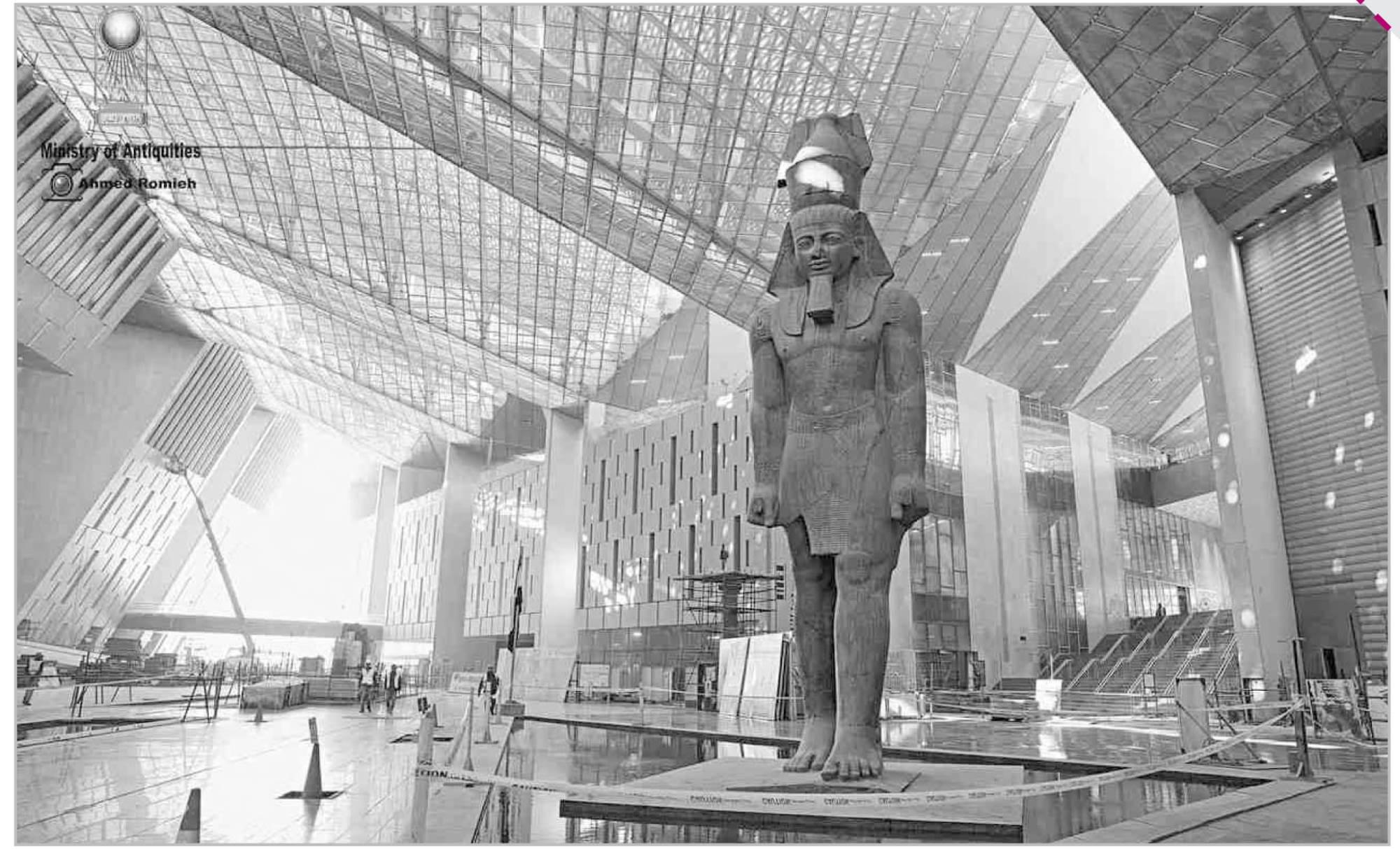 العمل جارى بالمتحف المصرى الكبير.. بما يليق بحضارة مصر