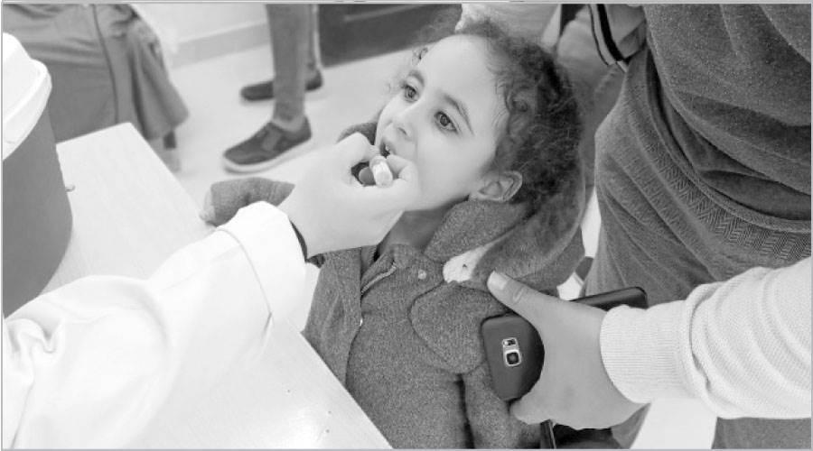 تطعيم الأطفال من سن يوم حتى 5 سنوات ضمن الحملة الثانية للتطعيم ضد شلل الأطفال