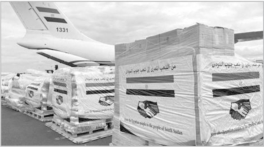 مساعدات مصرية إلى جنوب السودان وجيبوتى