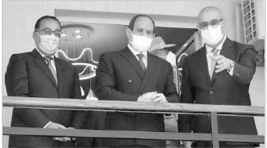الرئيس يتفقد إحدى الوحدات السكنية الجديدة بمدينة بدر
