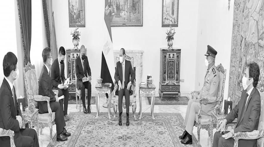 الرئيس السيسى ووزير دفاع كوريا الجنوبية وتعزيز مجالات التعاون الثنائى
