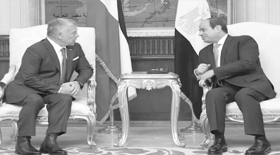 الرئيس السيسى وجلسة مباحثات مع ملك الأردن